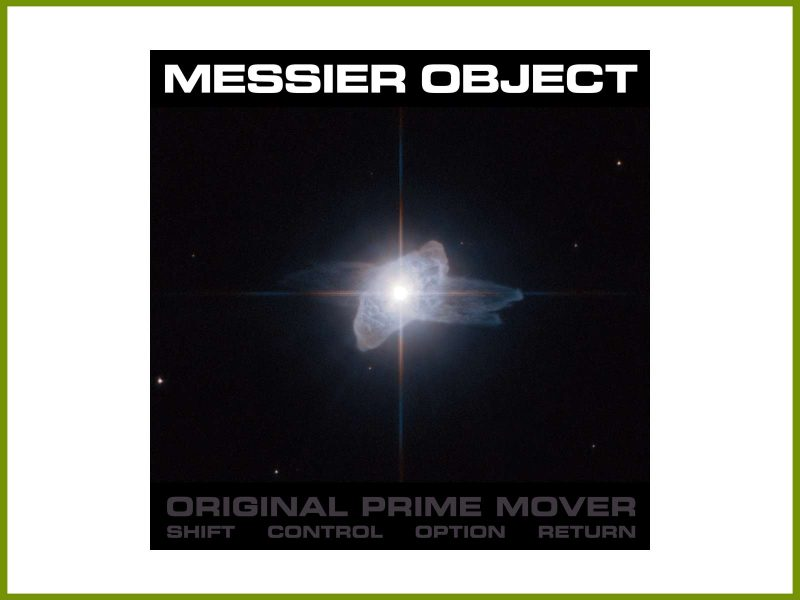 "Introducing Messier Object and new space techno EP ""Original Prime Mover"""