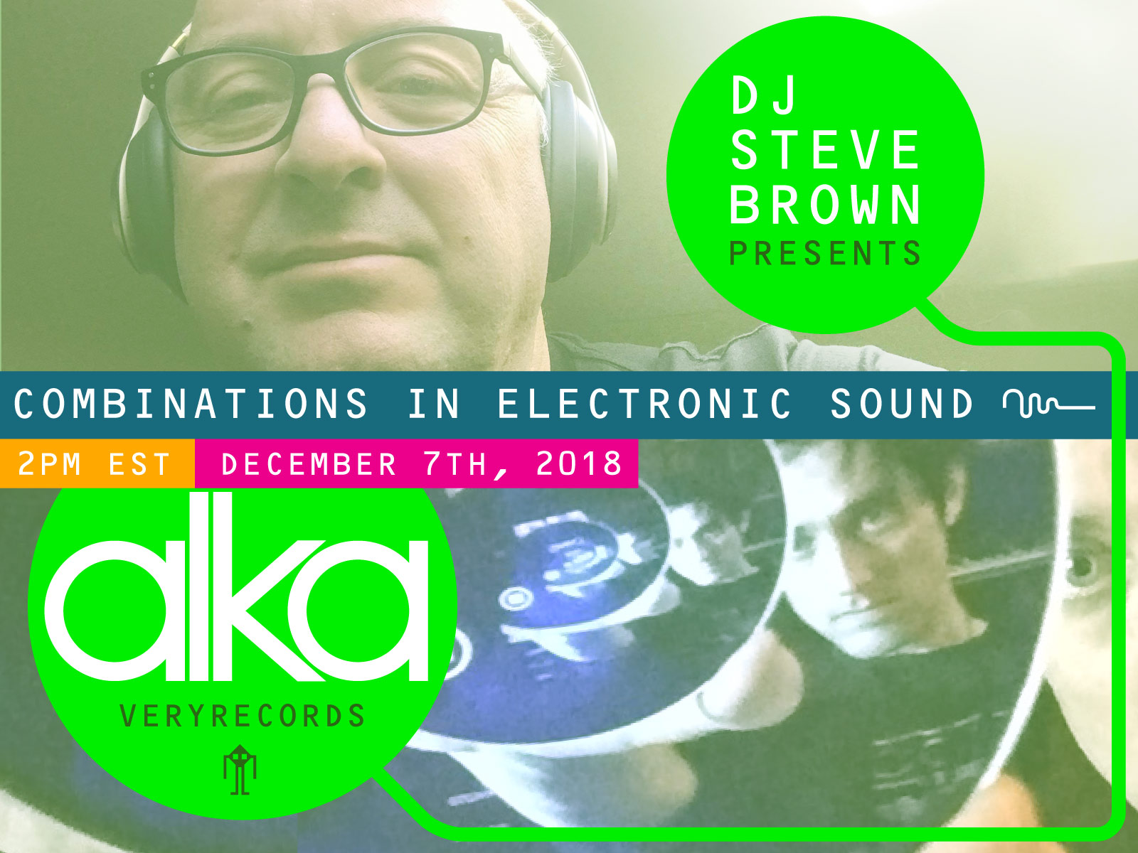 New At Work in Alka guest mix on DJ Steve Brown's 'Combinations In Electronic Sounds'